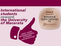 Third in Italy for international student satisfaction