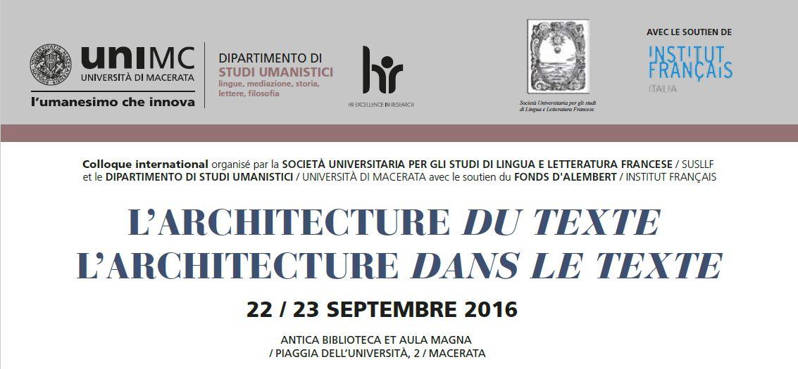 lingue universit di macerata l architecture du texte